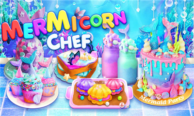 独角兽厨师(Unicorn Chef: Mermaid Mermicorn Girl Cooking Games)截图欣赏