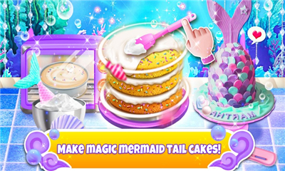 独角兽厨师(Unicorn Chef: Mermaid Mermicorn Girl Cooking Games)